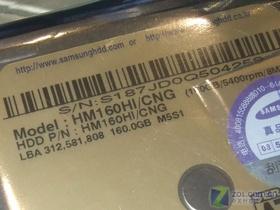 三星金宝 160GB 5400转 8MB 串口(HM160HI/CNG)笔记本