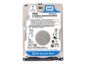 西部数据500GB 5400转 8MB SATA2(WD5000LPVT)笔记本