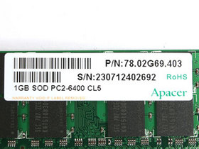 宇瞻1GB DDR2 800(笔记本)