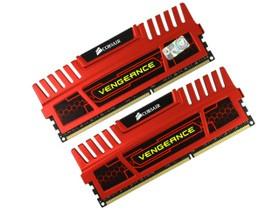 海盗船8GB DDR3 1600 红色复仇者套装(CMZ8GX3M2A1600C9R)