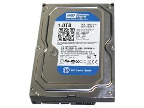 西部数据1TB 7200转 64MB SATA3 蓝盘(WD10EZE...