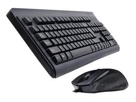 双飞燕D9000无孔有线键鼠套装