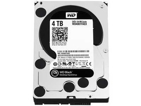 西部数据4TB 7200转 64MB SATA3 黑盘(WD4001F...