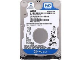 西部数据蓝盘320GB 5400转 8MB SATA3 蓝盘(WD3200LPVX)
